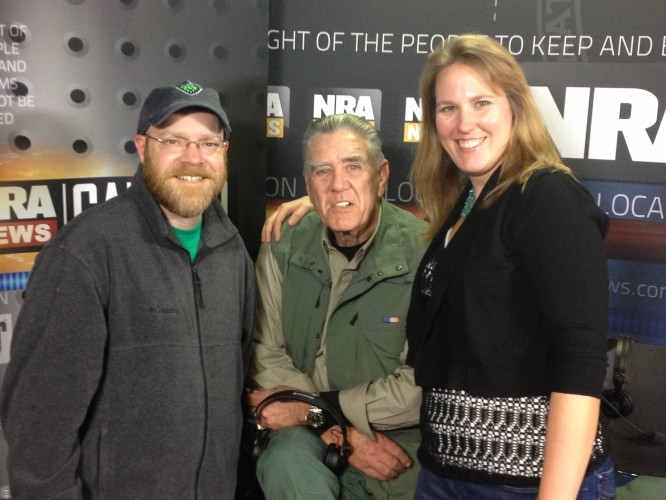 "And the highlight of my trip -spending time with The Gunny aka R. Lee Ermey. He is a true gentleman and I hope I get to be his ""Handler"" again in the future."