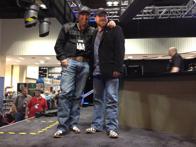 Pigman and Cam showing off their flashy boots