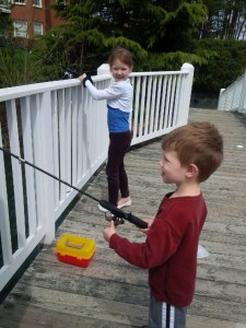Kevin's kids fishing