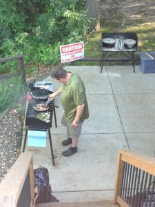 Our Chef, Bill Miller, working VERY hard