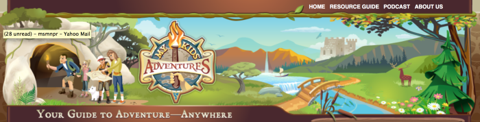 Screenshot of My Kids' Adventures website, which is still functional - so use it!