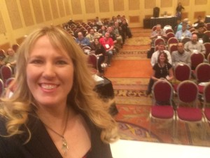 Of course I had to do a selfie while the crowd was filling in for my SHOT University talk.