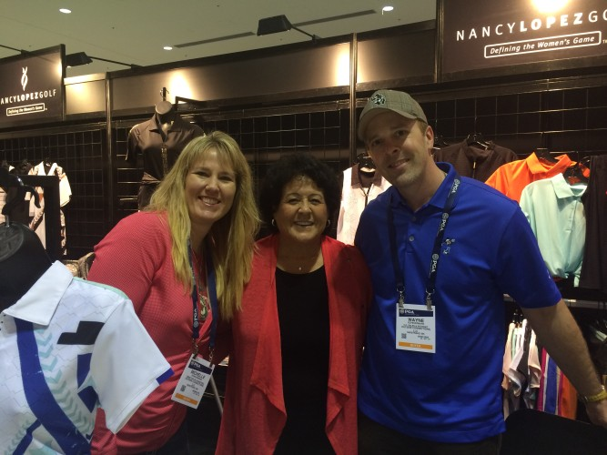 Wayne and I got to chat with Nancy Lopez! She was super cool.
