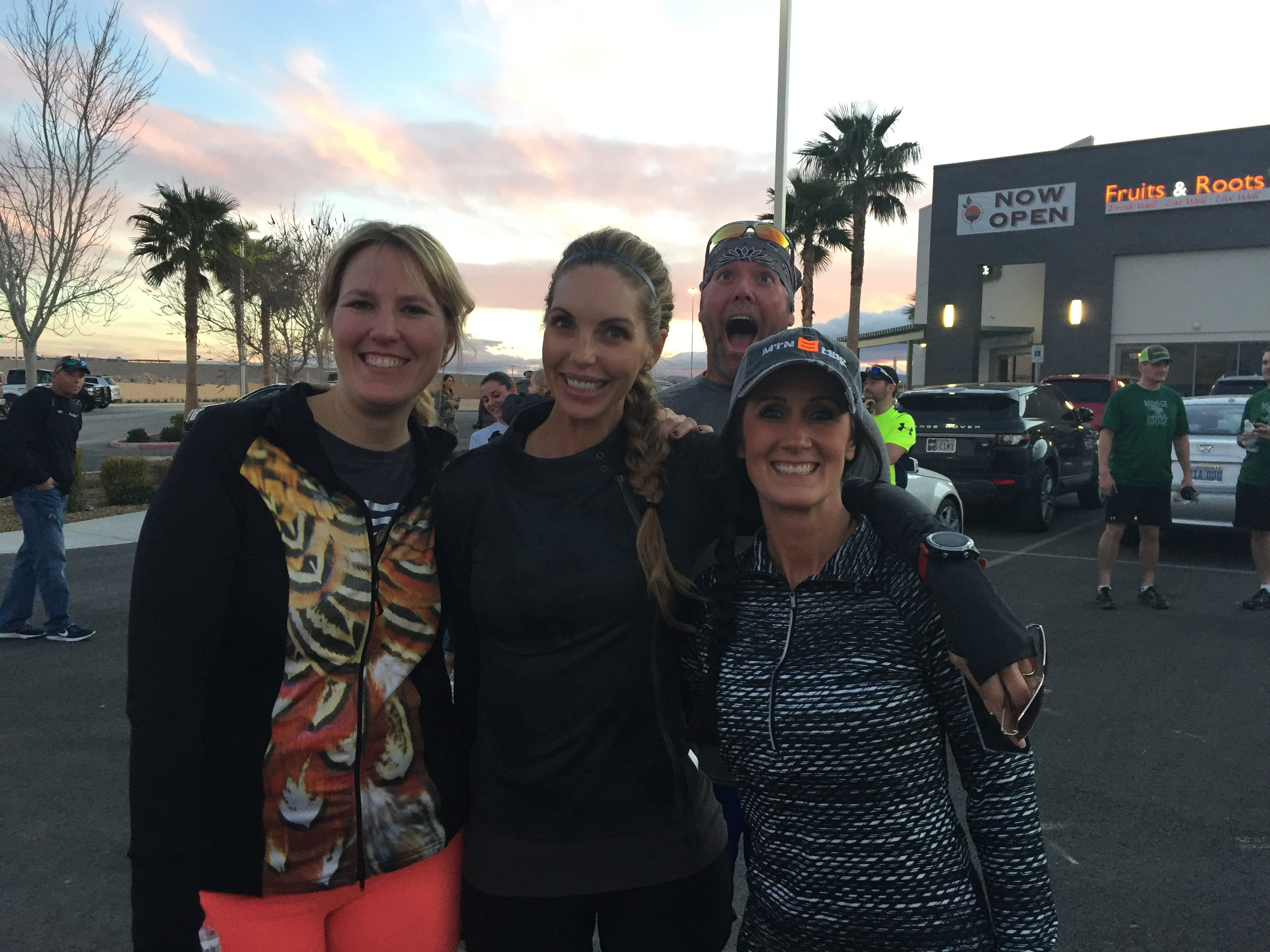 Me, Melissa Bachman and Julie McQueen, post-race with Daniel Lee Martin photo bombing...crazy kid.