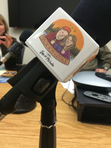 Check out the snazzy mic covers Jim ordered for us.