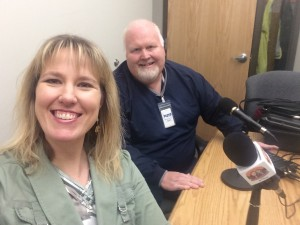 Selfie taken before interviewing our guests at the MN DNR office